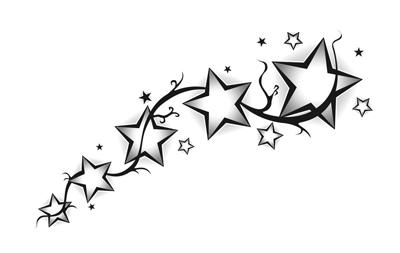 Un tatuaje de cinco estrellas Tatuajes 123