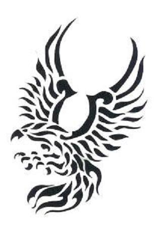 Águila tribal en negro