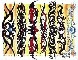 Tatuaje de brazaletes tribales Tatuajes 123