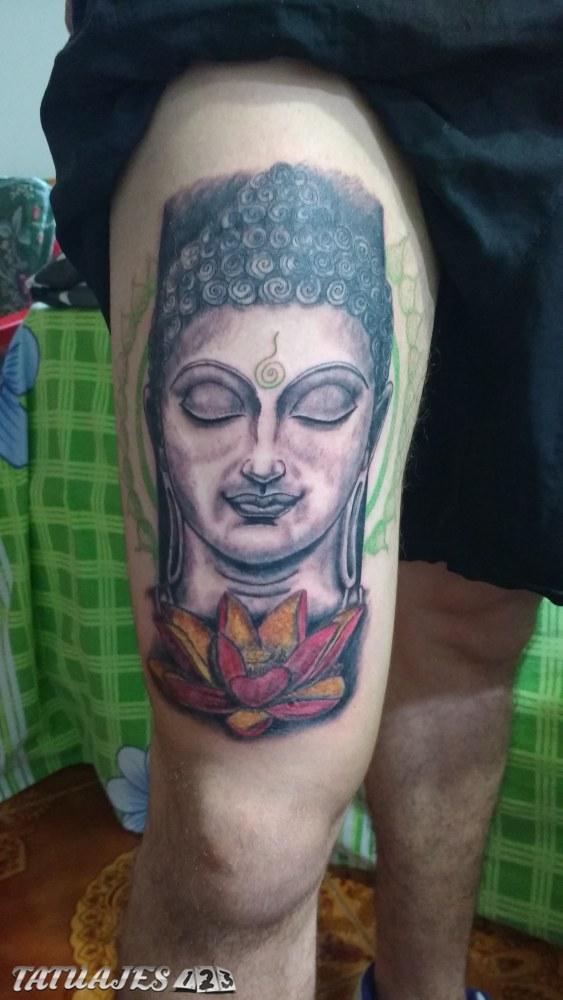 Buda y flor de loto