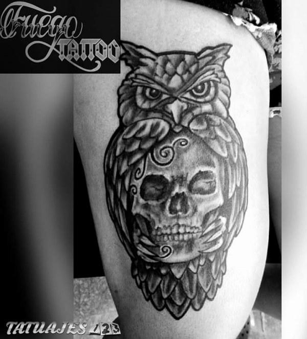 B 250 Ho Y Calavera Tatuajes 123