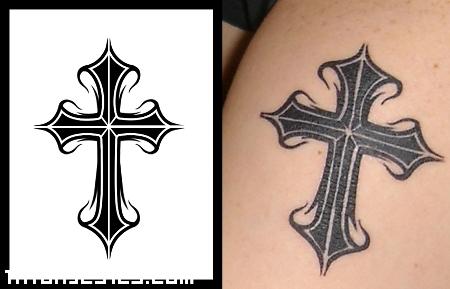 Cruz Cristiana Tribal Tatuajes 123
