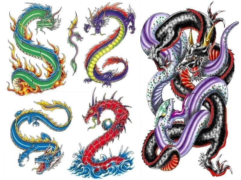 Dibujos de dragones a color imagui - Tattoo disenos a color ...