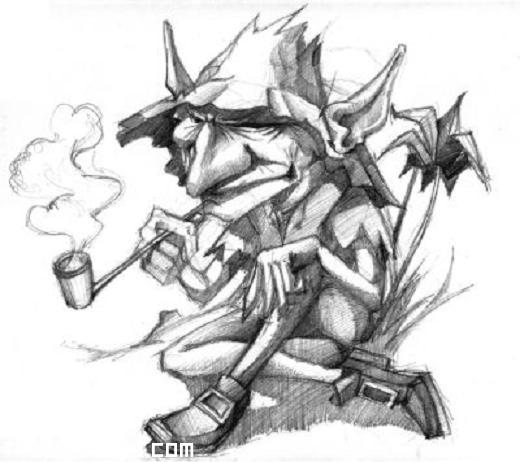 Tatuajes 123 Duendes Duende Fumando En Pipa