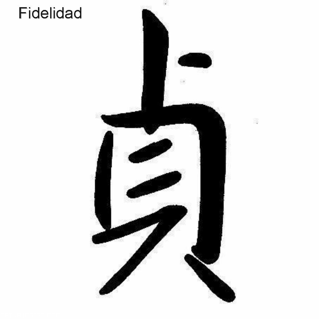 Fidelidad escrito en letras chinas