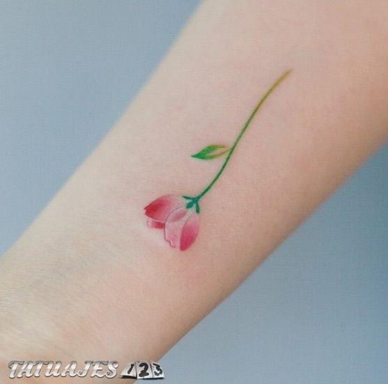 Preciosos Tatuajes Pequenos De Flores Tatuajes 123