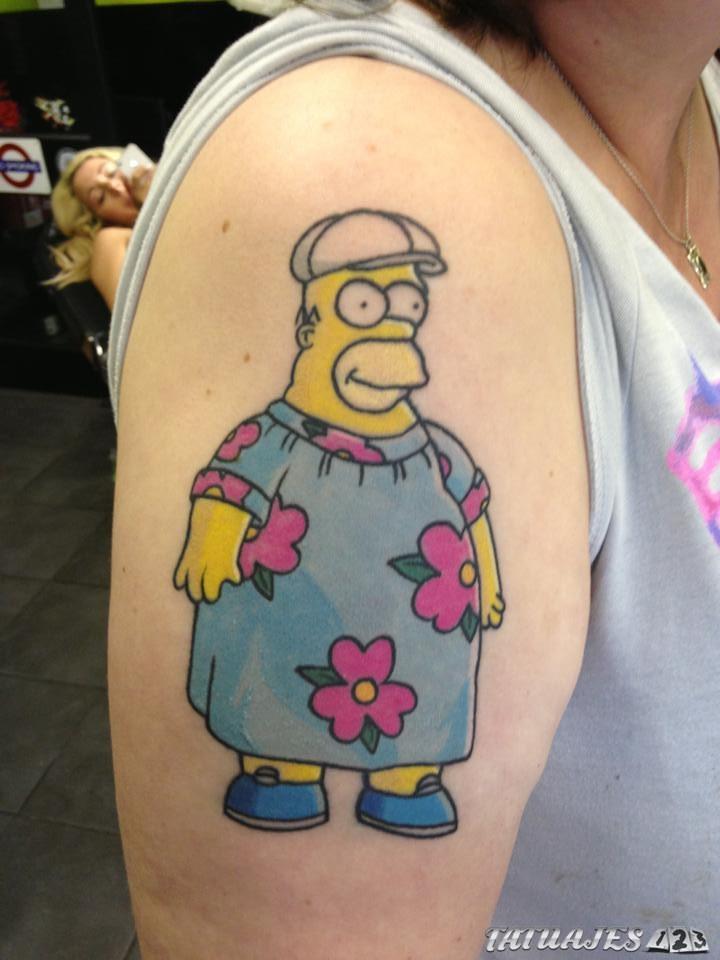 homer simpson tatuaje gordo