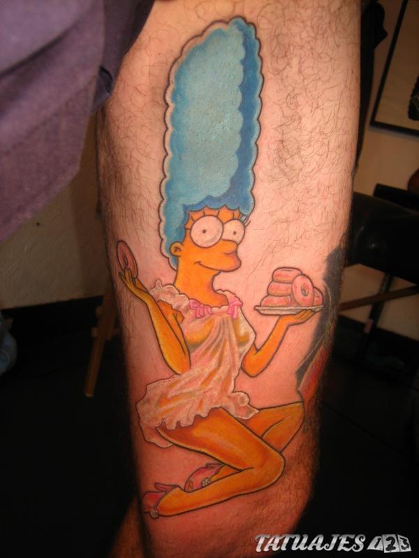 Marge simpson tatuaje
