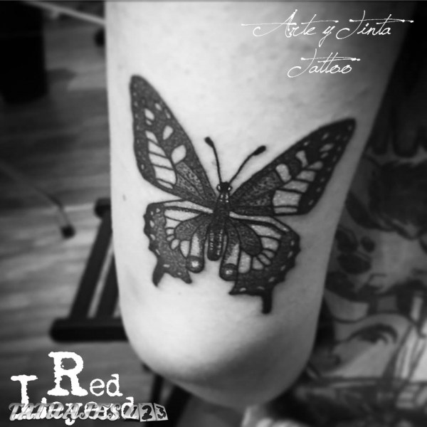 Mariposa Dotwork realizada por Red Leyend Tattoo