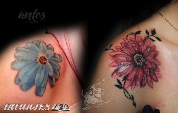 Cover flor en el hombro