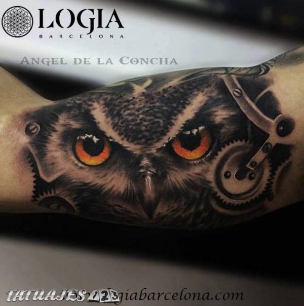 Tatuaje De Buho Tatuajes 123