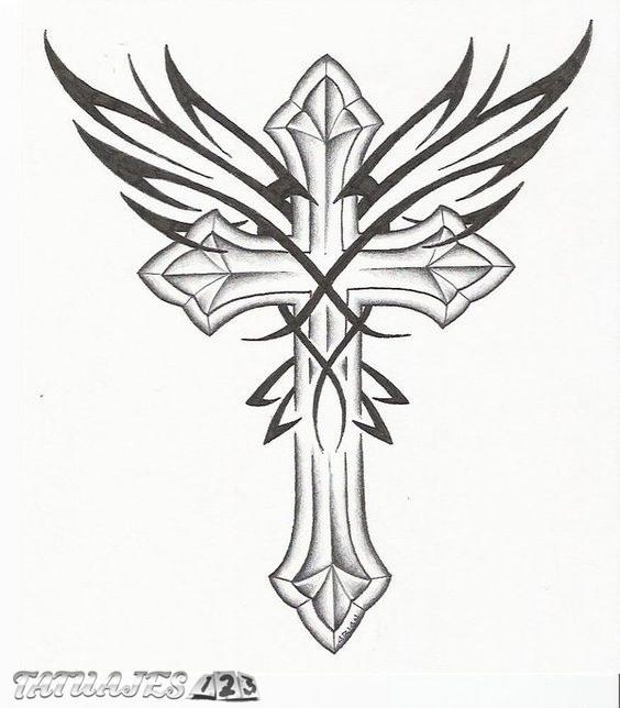 Cruz Alada Tatuajes 123