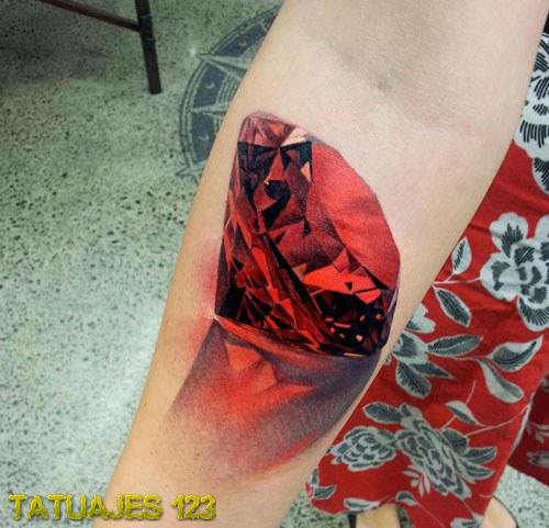 Diamante en color rojo tatuajes 123 - Tattoo disenos a color ...