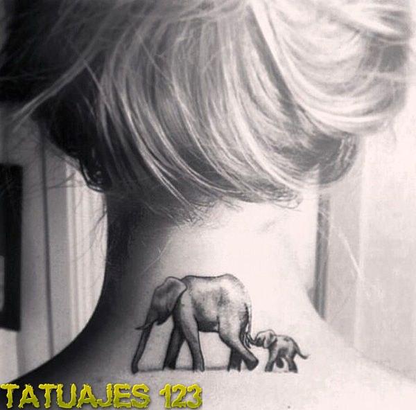 Familia De Elefantes Tatuajes 123