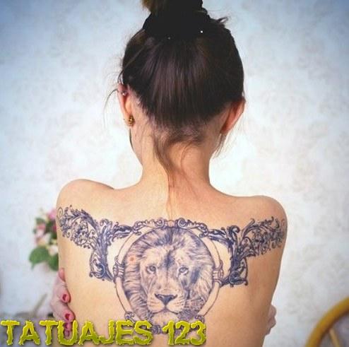 Leon En La Espalda Tatuajes 123