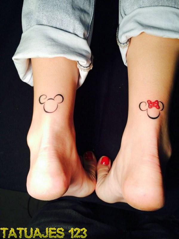 Tatuajes inspirados en Disney Old School Mickey Mouse And Minnie