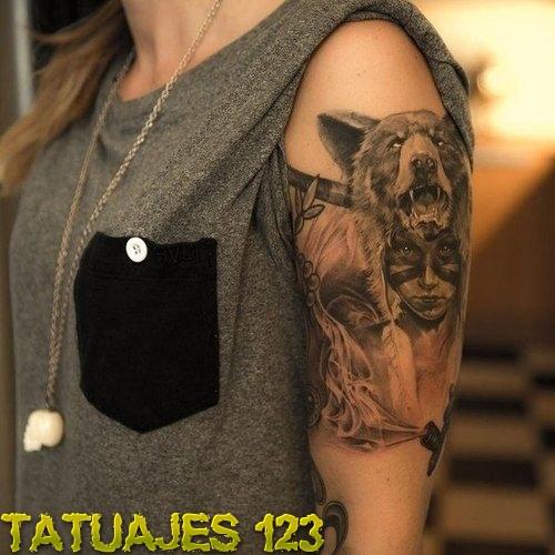 La Mujer Y El Oso Tatuajes 123