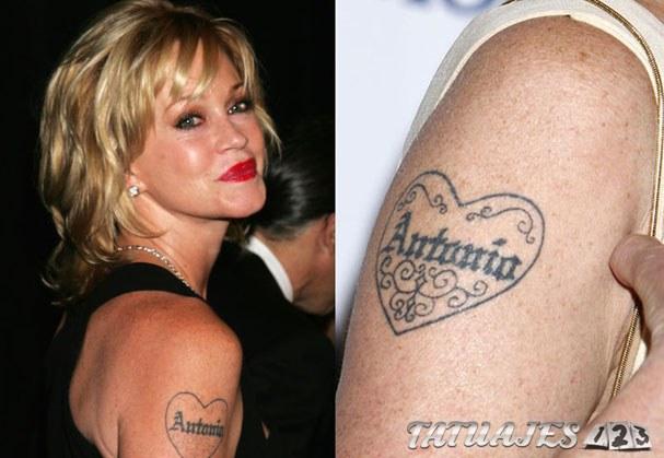 tatuaje nombre Melanie