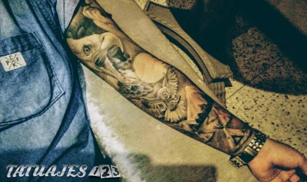 Manga completa nativo americano Tatuajes 123