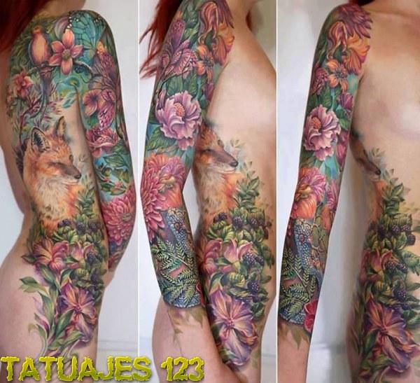 Tatuajes Brazo Entero Mujer Top Tatuajes Temporales Brazo Completo
