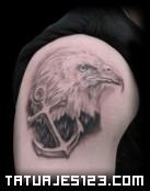 Águila con ancla