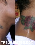 Cover up en cuello