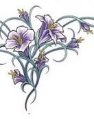 Diseño con flores para la espalda