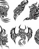 Diseños tribales de animales