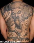 Tatuaje de Rostros chinos