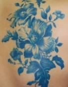 Flores tinta azul