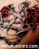 Ancla con rosas