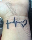 Cruz, pulsaciones y corazon