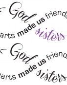Diseño de letras infinito para hermanas