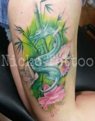 Dragon con flores