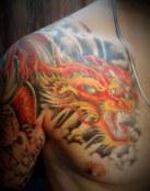 Dragón a color