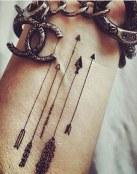 Tatuaje de flechas