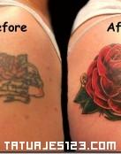 Cover Up de mujer con una rosa