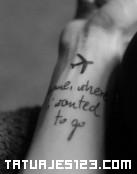 Frase en el brazo