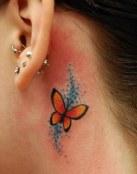 Mariposa en color naranja