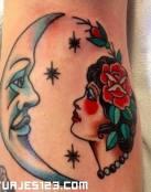 Luna y Mujer