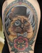 Tatuaje retrato de un gato
