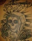 Ataúd y Santa Muerte