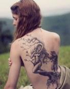 Tatuaje de Apolo y Dafne