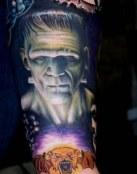 Tatuaje terrorífico de Frankenstein