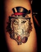 Tatuaje de gato millonario