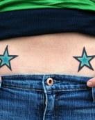 Dos estrellas azules