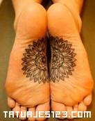Tatuaje en la planta del pie