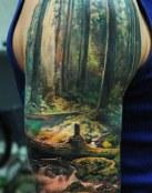 Un paisaje en el brazo