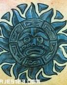 Sol Azteca en azul