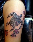 Una bonita tortuga tribal